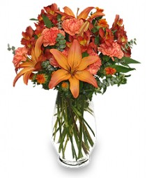 WARM CINNAMON SPICE Floral Arrangement