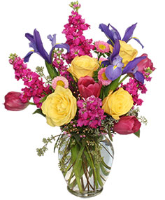 WATERCOLOR FLOWERS Arrangement in Aurora, MO | Little Flower Shop, LLC