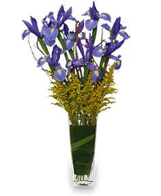 ALL THE RAGE Iris Vase in Rock Hill, SC | Ribald Events - Florals, Rentals, & Event Planning