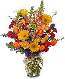 Fall Treasures Flower Arrangement