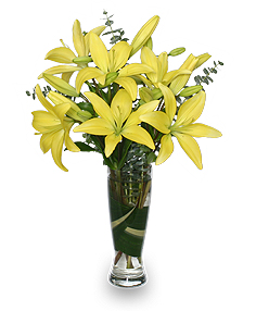 RISE & SHINE LILIES Arrangement in Kingsland, GA | KINGS BAY FLOWERS