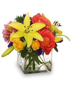 Sweet Success Vase of Flowers in Mobile, AL | ZIMLICH THE FLORIST