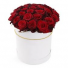 V-13 2-DOZEN ROSES ARRANGED IN A WHITE HAT BOX