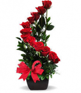 "V-21 DOZEN RED ROSES "" STAIRCASE TO MY HEART"""
