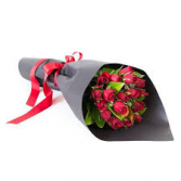 V-30 PREMIUM WRAPPED 1-DOZ. RED ROSES
