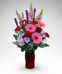 V-40 V-DAY MIX PREMIUM VASE ARRANGEMENT