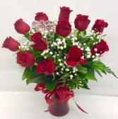 V2  Medium Stem Red Rose Arrangement