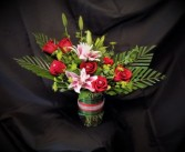 Va Va Voom bouquet Vase arrangment