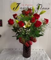 Roses-A dozen kisses - With extra Romance Extra Romance with Lily's added in