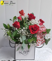 Val-Box of Love -SOLD OUT! $105-1/2 doz    $145-1 doz   $175-1 doz with mixed flowers