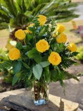 White Half Dozen Roses
