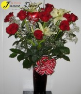 Roses - Butterfly Kisses Roses and Lily's are our most popular combination!