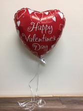 Assortment of helium Valentine Balloons