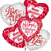 VALENTINE BALLOON BOUQUET **MYLAR STYLES MAY VARY**