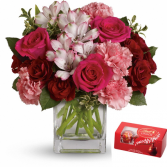 Valentine Bliss sold in standard size only Fresh arrangement