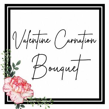 Valentine Carnation Bouquet