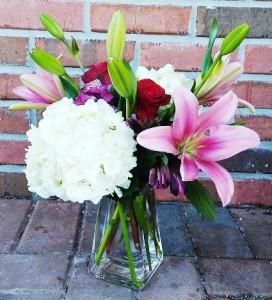 Valentine Classy Blooms Vase