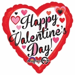 Valentine Day Balloon designs vary: add on product only