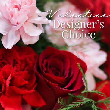 Valentine Designer's Choice Fresh Floral Arrangement