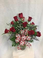 Valentine Dozen Rose Arrangement