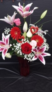Valentine Favorites Vase