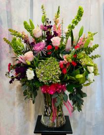 Valentine Forever & Always Bouquet Vase Arrangement