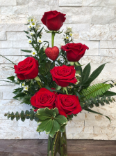 Valentine Half Dozen Vase