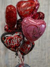 Valentine Love Balloon Bouquet Helium Balloons