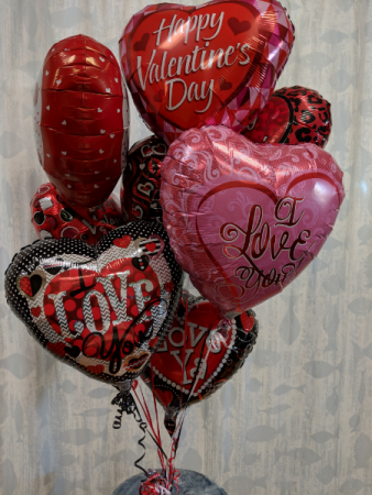 Valentine Love Balloon Bouquet Helium Balloons