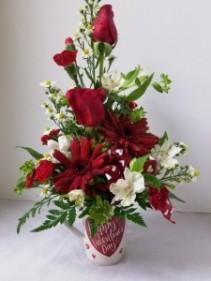 Valentine Love Valentine Arrangement