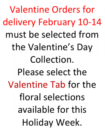 Valentine Order Selections