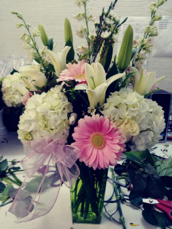 Valentine Pastels Floral mix of pinks and whites