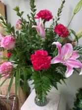 Valentine Pinks Fresh Arrangement