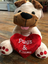 Valentine Plush Pugs & Kisses