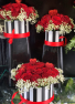 Hat Box Filled To The Brim With Lucious Roses