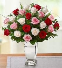 Valentine Rose Medley Premium Long Stem Roses Two Dozen