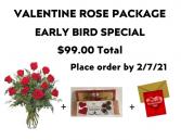 Valentine Rose Package Roses