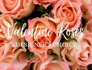Valentine Roses  Designer's Choice Half Dozen in Huntington, TX | LIZA'S GARDEN