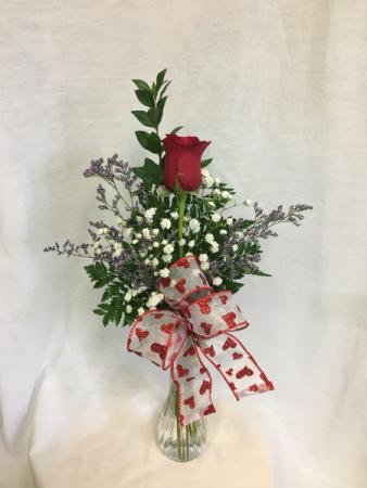 Valentine Single  Rose Budvase