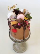 Valentine Smash Cake by LisaMae Cakes