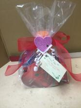 Valentine snack basket Gift basket