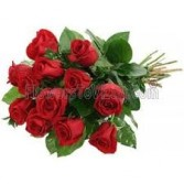 Our  Valentine Special Long Stem Ecuadorian Roses  with Baby Breath