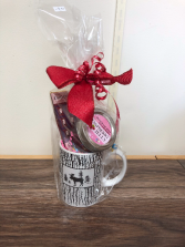 Moose mug with sweet treats Gift idea