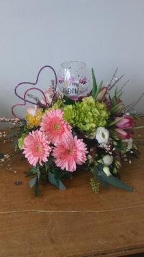 Valentine Toasting Mixed bright fresh flowers