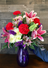 Violet  Vibrance Vase