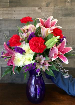 Violet  Vibrance Vase in White Oak, PA | Breitinger's Flowers