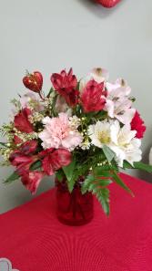 Valentine Wishes Fresh Arrangement