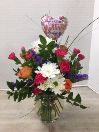 Valentine Wishes Vase