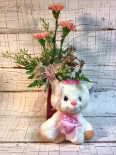 Valentine's Angel Package Arrangement
