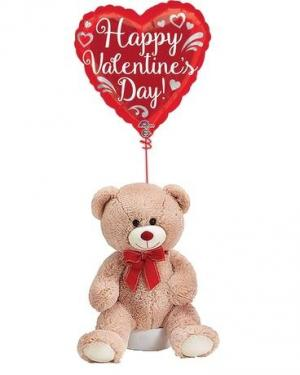 Valentine's Balloon & Bear Bunch  in Riverside, CA | The Flower Alley
